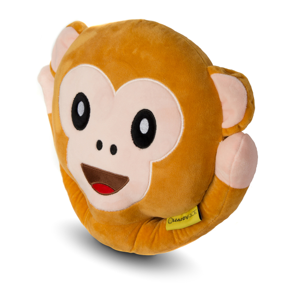 Perna decorativa Emoji Maimuta Happy Face 1