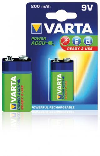 Acumulator 9V NiMH 200mAh Power Accu 1buc/blister Varta 0
