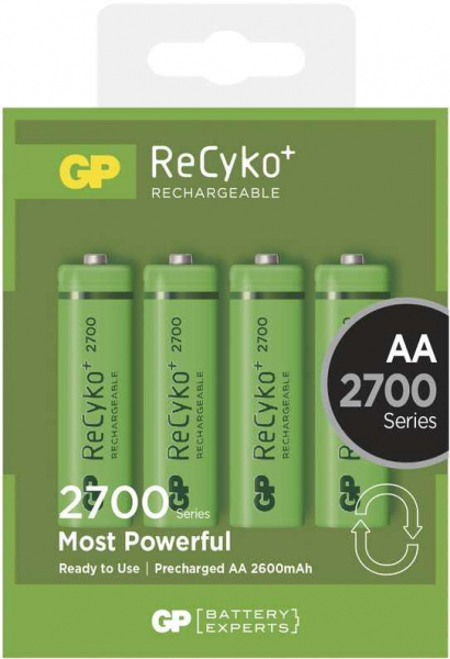 Acumulator AA (R6) GP NiMH Recyko+ 2700mAh 4 buc/blister [0]