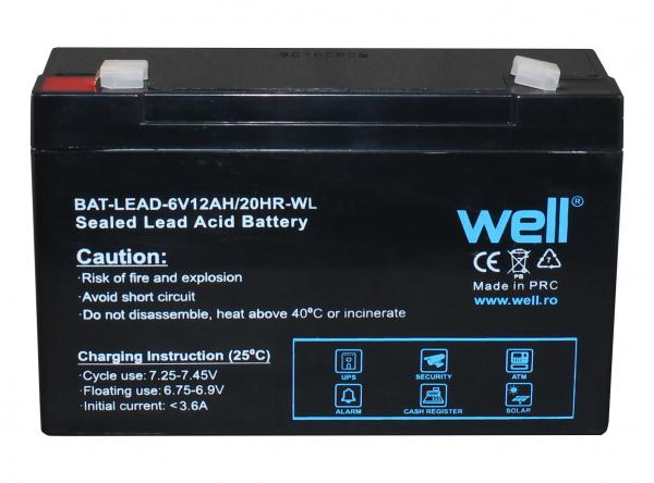 Acumulator plumb acid 6V 12AH, Well 0