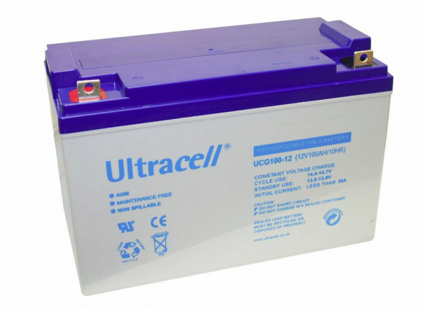 Acumulator plumb acid cu gel Ultracell 12V 100AH [0]