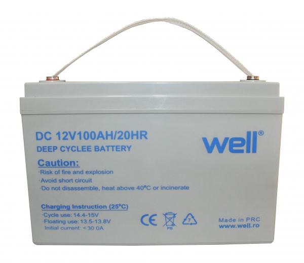 Acumulator plumb acid deep cycle 12V 100Ah Well [0]