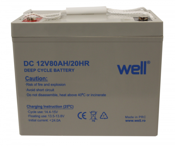 Acumulator plumb acid deep cycle 12V 80Ah Well 0