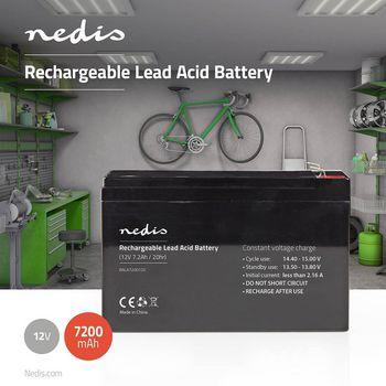 Acumulator plumb acid Nedis 12V 7200 mAh [0]