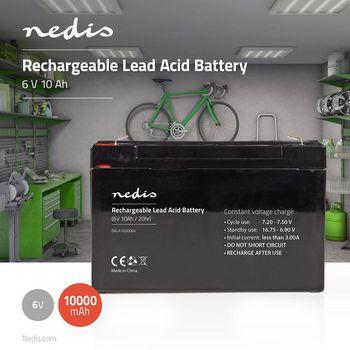 Acumulator plumb acid Nedis 6V 10AH [0]