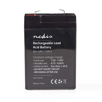 Acumulator plumb acid Nedis 6V 4.0Ah 0