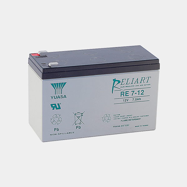 Acumulator plumb acid Yuasa RE7-12L, 12V, 7Ah , F2 [0]