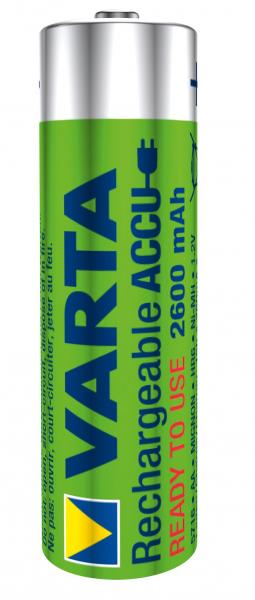 Acumulator R6 (AA) 2600mAh Ready2Use 2buc/blister Varta [0]