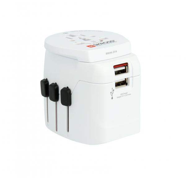Adaptor priza universal Skross Pro Light USB World 1.302550 0