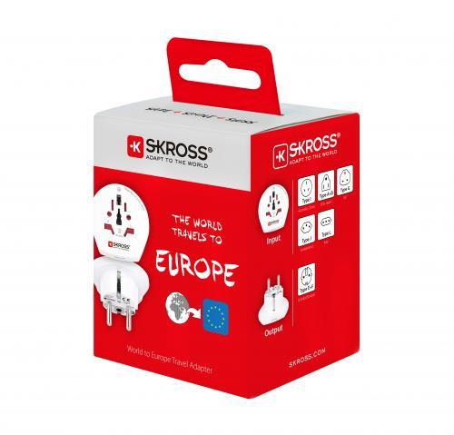 Adaptor priza universal World -> EU Skross 4
