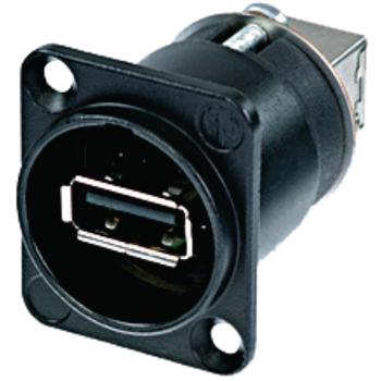 Adaptor USB A soclu-fata - USB B soclu-spate, Neutrik 0