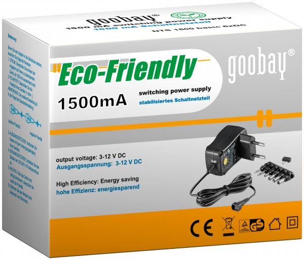 Alimentator de curent continuu 3V-12V 1500MA, Goobay 0