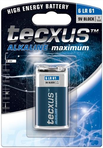 Baterie alcalina 6LR61 (9V) tecxus [0]
