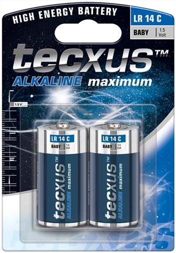 Baterie alcalina Baby (C,R14) tecxus 0