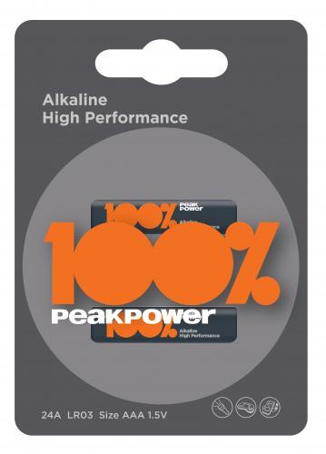 Baterie alcalina Peakpower R3 (AAA) infoliat 0