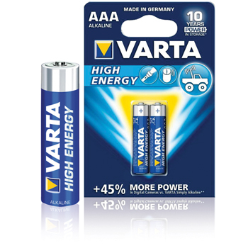 Baterie alcalina R3 (AAA) 2 buc/blister High Energy Varta 0