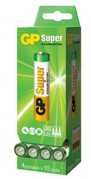 Baterie alcalina R3 (AAA) GP dispensor 4x10 0