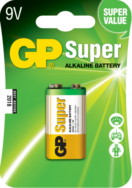 Baterie alcalina Super GP 9V 1 buc/blister 0