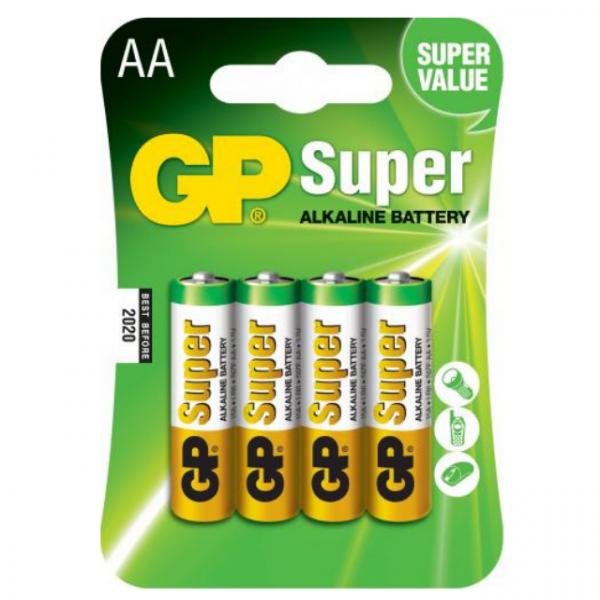 Baterie Alcalina Super GP R6 (AA), 4 buc/ blister 0