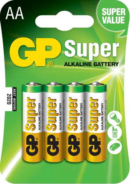 Baterie alcalina Super GP R6 (AA) 4 buc/blister 0