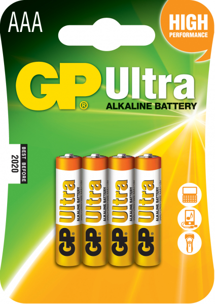 Baterie alcalina Ultra GP R3 (AAA) 4 buc/blister 0