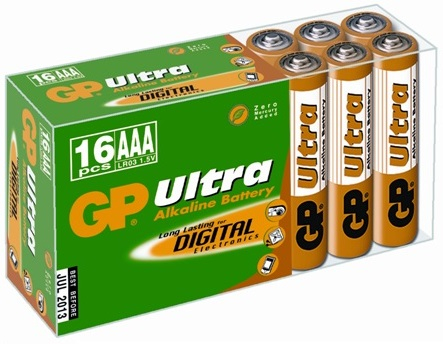 Baterie alcalina Ultra R3 (AAA) 16 buc/cutie GP 0