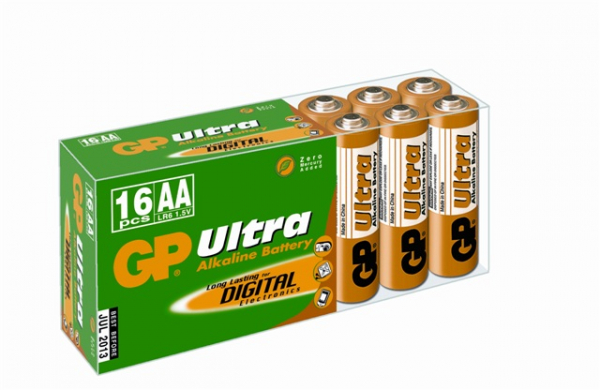 Baterie alcalina Ultra R6 (AA) 16 buc/cutie GP 0