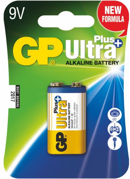 Baterie alcalina UltraPlus GP 9V 1 buc/blister [0]