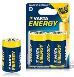 Baterie alkalina R20 (D) 2bucati/blister Energy Varta 0