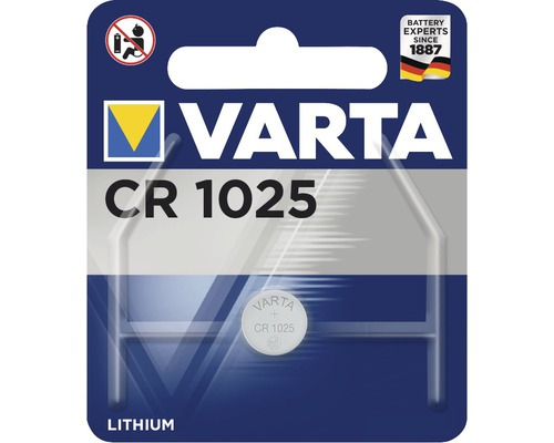 Baterie buton CR1025 lithium 3V , blister 1 buc, Varta [0]