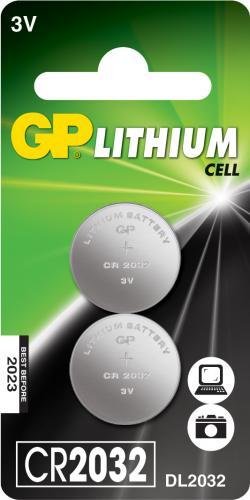 Baterie buton litiu GP 3V 2buc/blister [0]