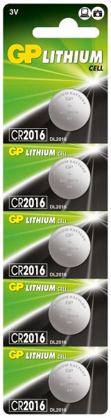 Baterie buton litiu GP 3V 5 buc/blister [0]