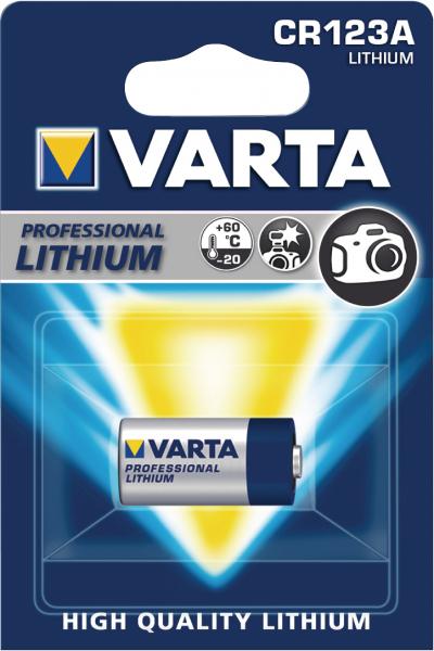 Baterie foto cu litiu CR123A 3V 1600mAh Varta [0]