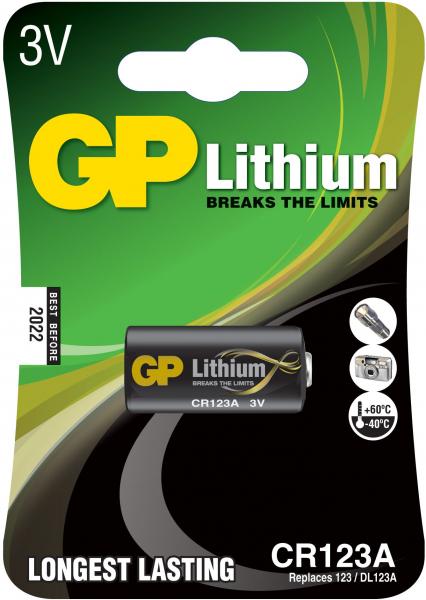 Baterie Lithium CR123A 0