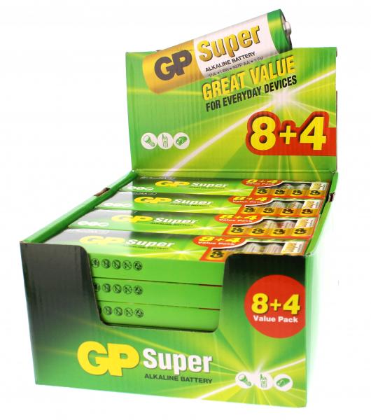 Baterie R6 (AA) super alcalina GP 288 buc/counter 0