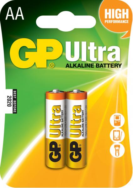 Baterie ultra-alcalina GP AA (R6) 2 buc/blister 0
