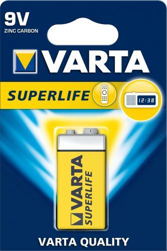Baterie zinc carbon 9V (6F22) 1bucata/blister Superlife Varta 0