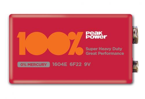 Baterie zinc carbon 9V infoliat Peakpower [0]