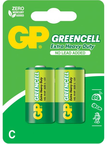 Baterie zinc Greencell GP R14 (C) 2 buc/blister 0