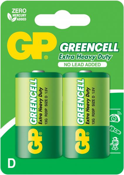 Baterie zinc Greencell GP R20 (D) 2 buc/blister [0]