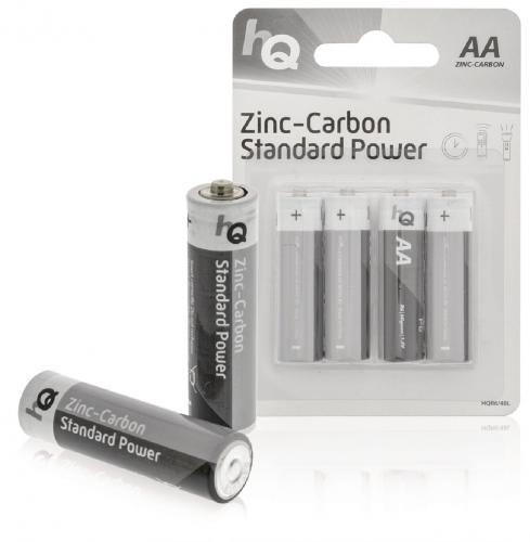 Baterii AA zinc-carbon 4 buc/blister HQ 0