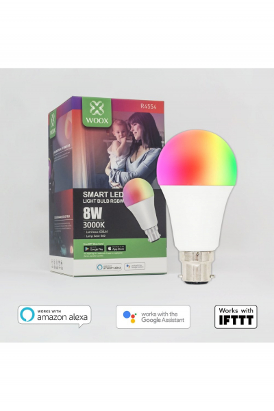 Bec Inteligent Smart LED WiFi, E27, 8W,  reglabil, Lumina Alb/Calda/Multicolor 1