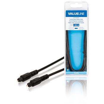 Cablu audio digital Toslink tata -  Toslink tata 2.00 m negru 0