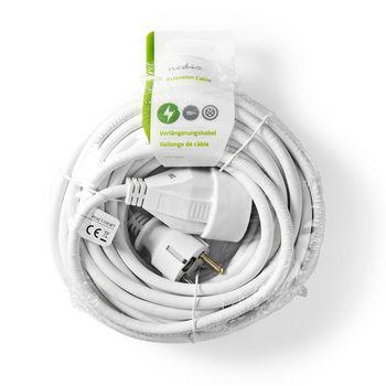 Cablu prelungitor Nedis 10m H05VV-F 3G1.5 IP20 alb 1