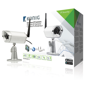 Camera supraveghere video IP de exterior, argintie, konig 0