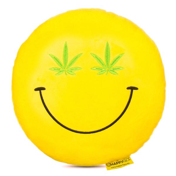 Perna decorativa Emoji Cannabis Happy Face 0