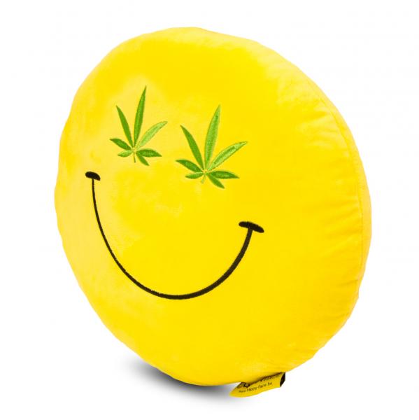 Perna decorativa Emoji Cannabis Happy Face 1