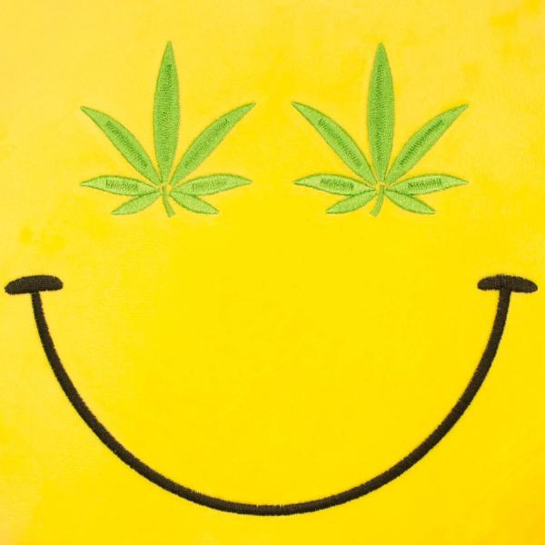 Perna decorativa Emoji Cannabis Happy Face 2