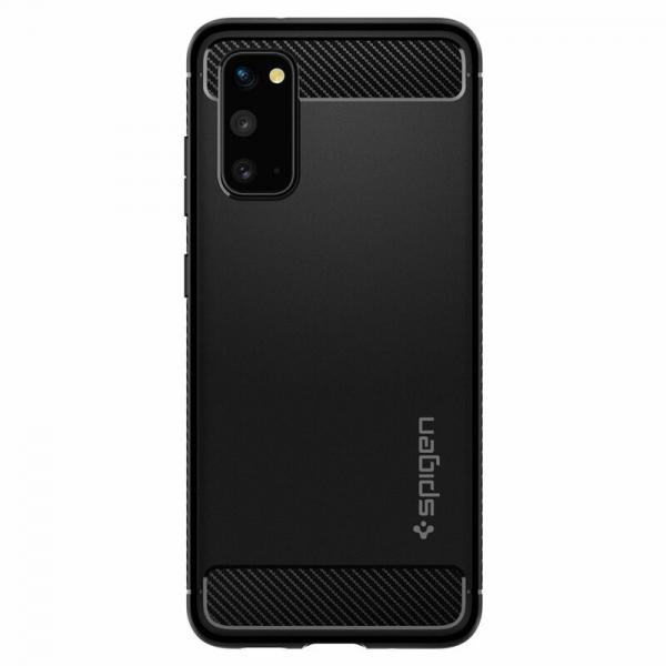 Carcasa Pentru Samsung Galaxy S20 Ultra Spigen Rugged Armor, Negru [1]