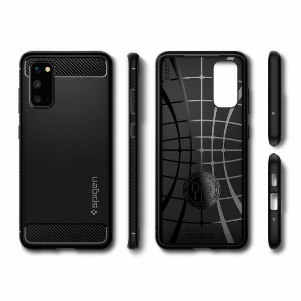 Carcasa Pentru Samsung Galaxy S20 Ultra Spigen Rugged Armor, Negru [3]